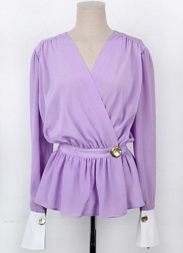 [예약배송] WOORI SILK BLOUSE (PURPLE, PINK, IVORY)