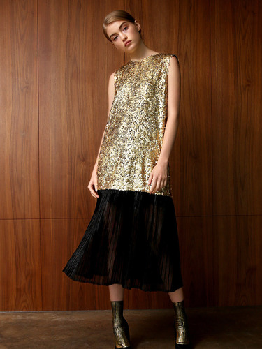 [FINAL SALE] ANGIE SEQUINED BACK BOW MIDI DRESS