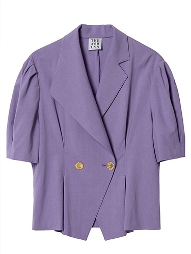 JOLIE unbalanced collar blouse_purple