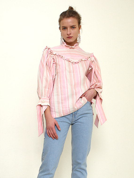 [FINAL SALE] LILIAN RUFFLED LINEN BLOUSE