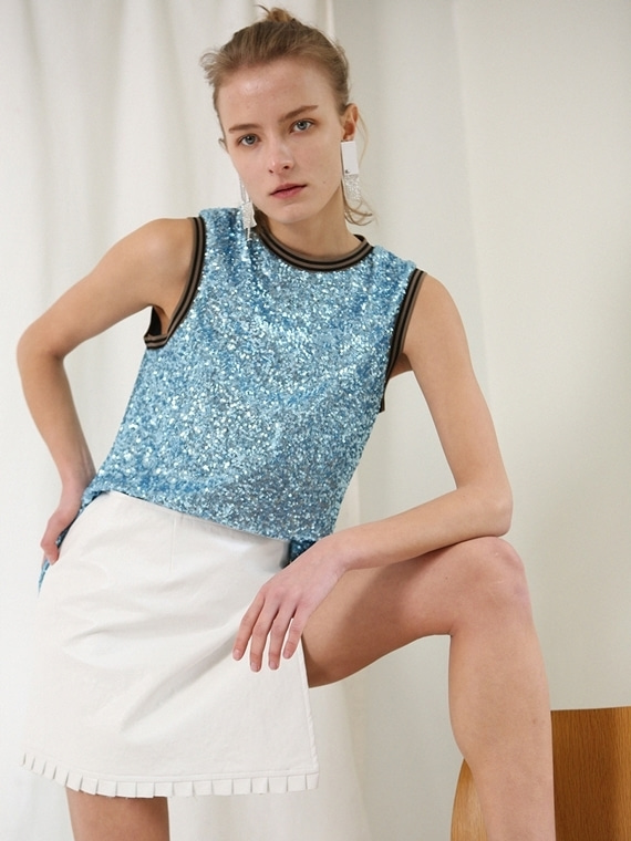 JASMINE SEQUINED  TOP