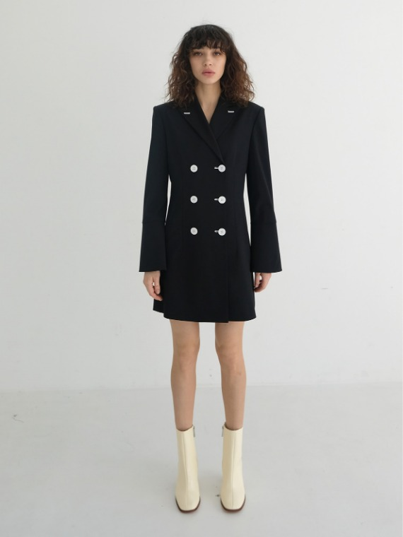 REESE DOUBLE JACKET DRESS_BLACK