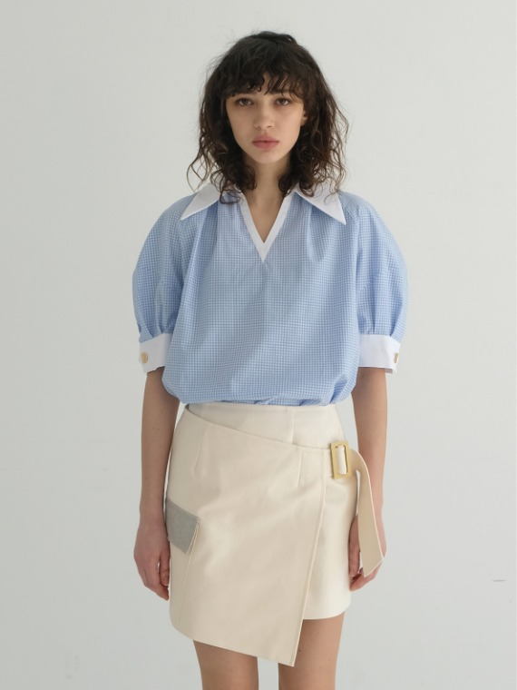 COCO COLLAR BLOUSE_BLUE