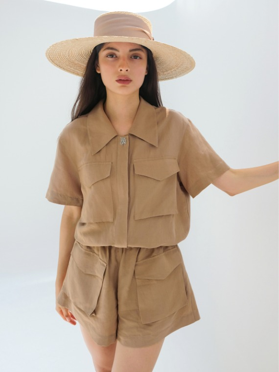 MARY SAFARI PLAYSUIT_BEIGE