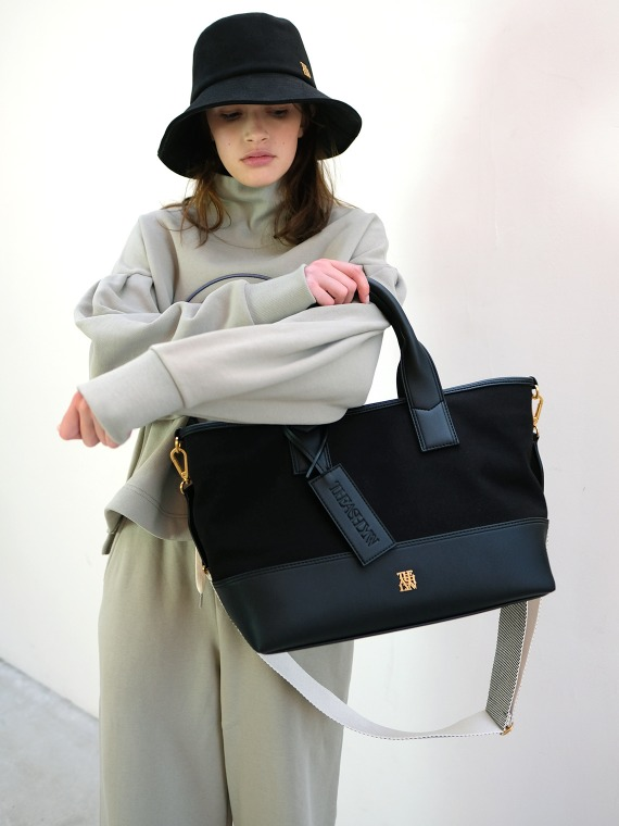 MADDISON TOTE BAG LARGE_BLACK