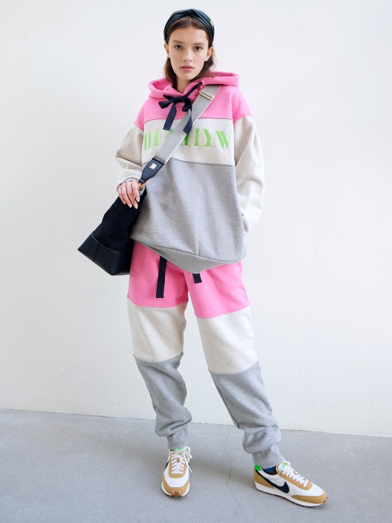 CLARE TRICOLOR SWEATPANTS_PINK