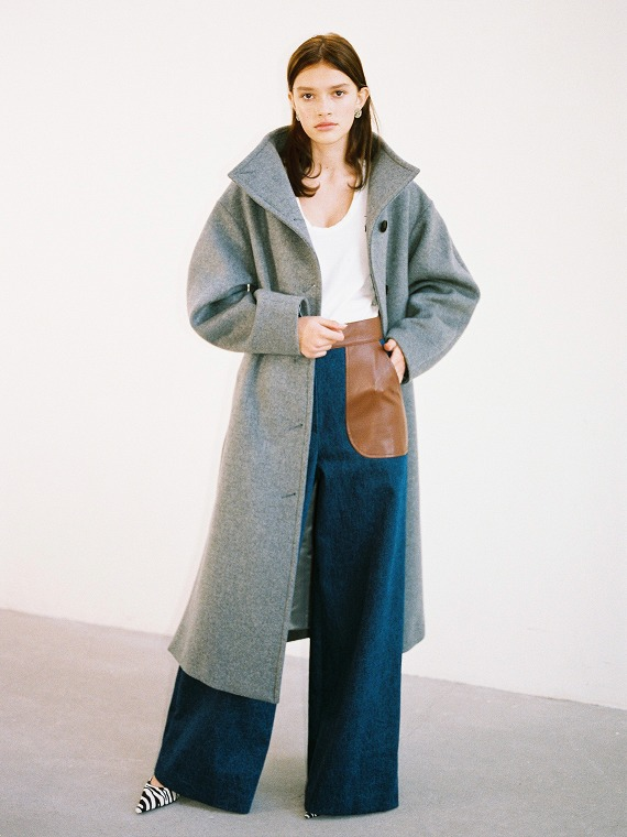 ANNE VOLUME COAT_GREY