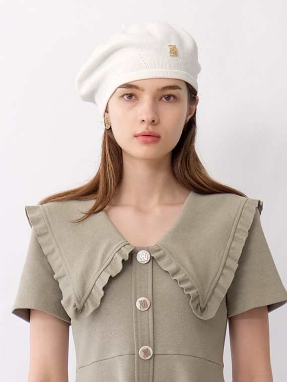 CLARA COTTON LOGO BERET (4 COLORS)