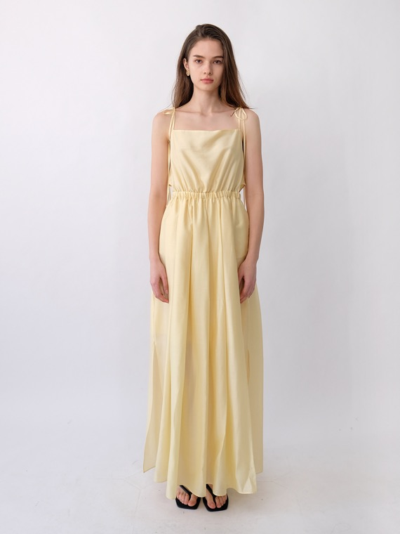 MAXINE CUTOUT MAXI DRESS_LEMON BUTTER