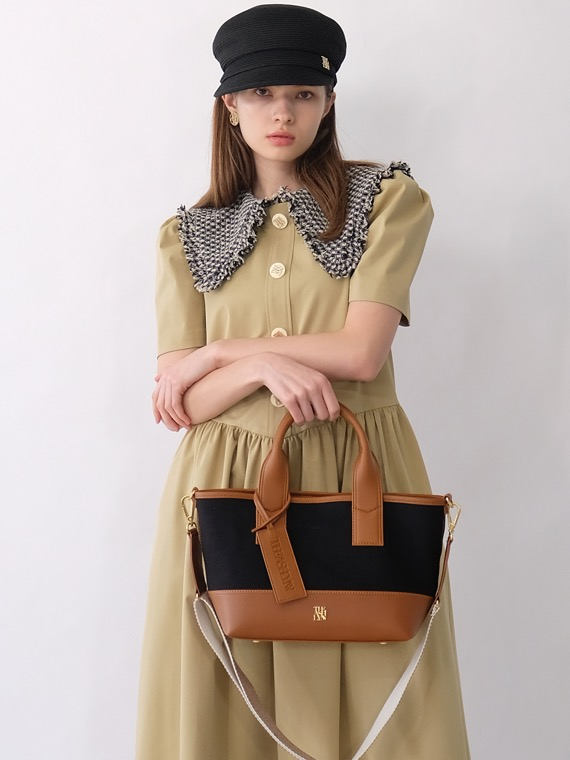 MADDISON TOTE BAG BLACK/BROWN (M/L)
