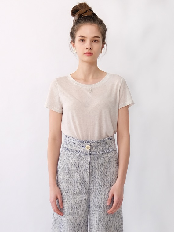 NINA LOGO LINEN T SHIRT (4 COLORS)