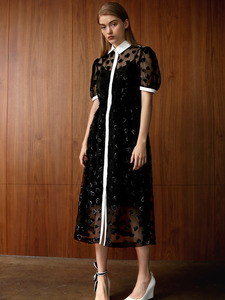 DANAH SHEER HEART MIDI DRESS
