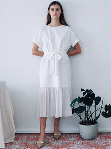 [SELF-LOVE] CODIE OVERSIZED COTTON BOW DRESS