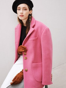 [3차리오더] INES OVERSIZED COAT JACKET_PINK