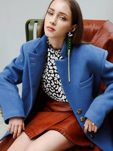 INES OVERSIZED COAT JACKET_BLUE