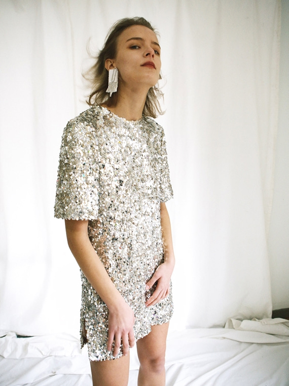 BIANCA SEQUINED MINI DRESS