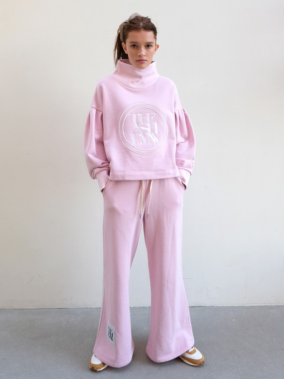 DREAM HIGH NECK TOP & PANTS_PINK
