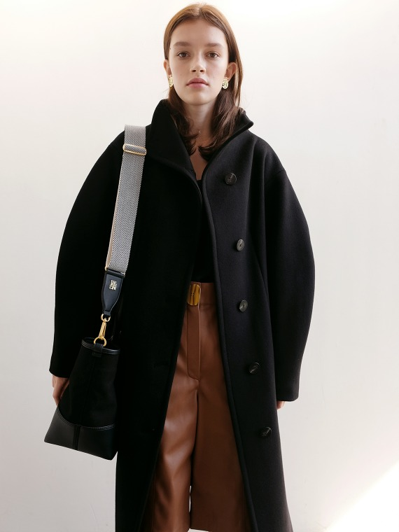 ANNE VOLUME COAT_BLACK