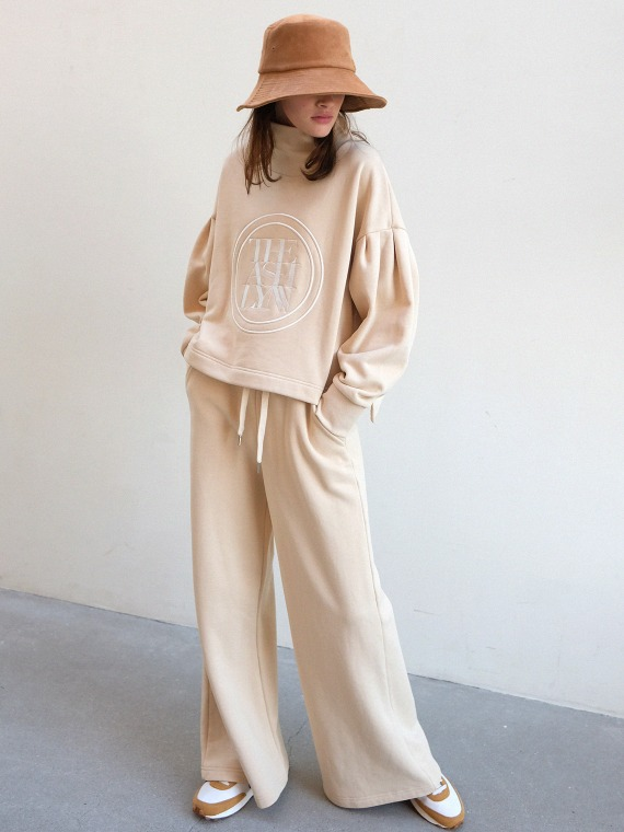 DREAM HIGH NECK TOP & PANTS_BEIGE