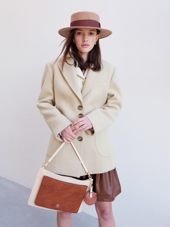 [REFURB] MERYL WOOL CASHMERE COAT_CUSTARD