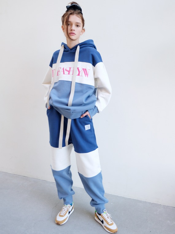 CLARE TRICOLOR SWEATPANTS_BLUE