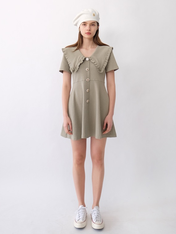 KORA KNIT DRESS_KHAKI GREY