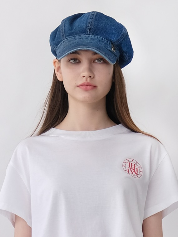 DENIM NEWSBOY HAT (2 COLORS)