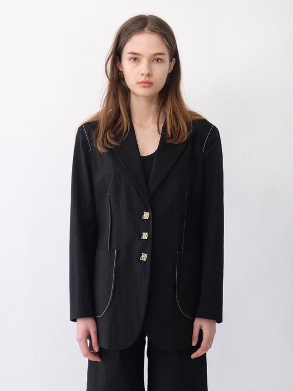 EMMY STITCH JACKET_BLACK