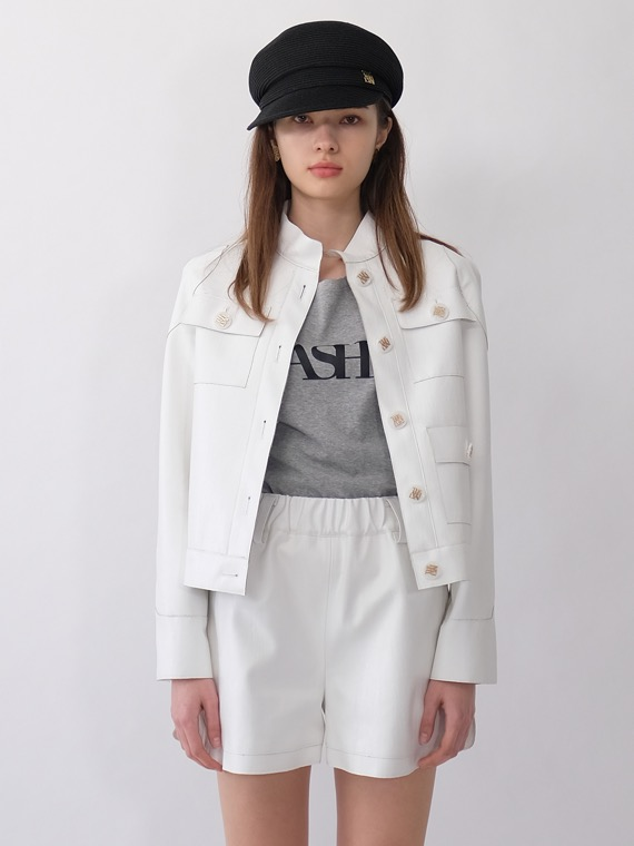 HARLEY BIKER JACKET_WHITE