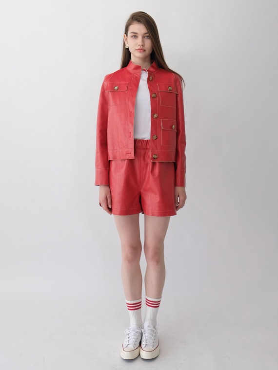 BETH SPORTY SHORTS_RED