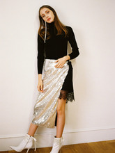 AVA SEQUIN WRAP SKIRT